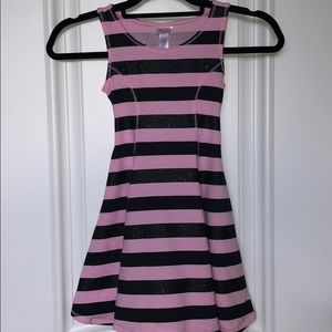 Justice pink and black dress
